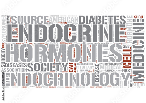 Endocrinology Word Cloud Concept