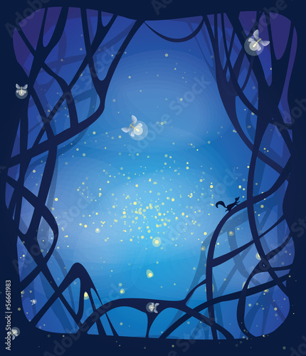 Night magic background