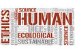 Environmental ethics Word Cloud Concept