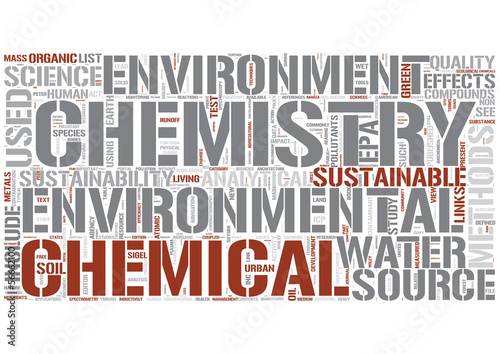 Environmental chemistry Word Cloud Concept
