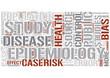 Epidemiology Word Cloud Concept
