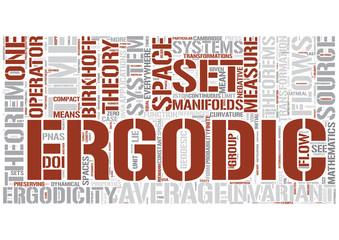 Ergodic theory Word Cloud Concept