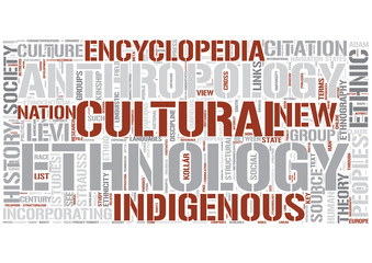 Ethnology Word Cloud Concept