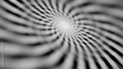 Hypnotizing rotating spiral on the electronic screen close-up