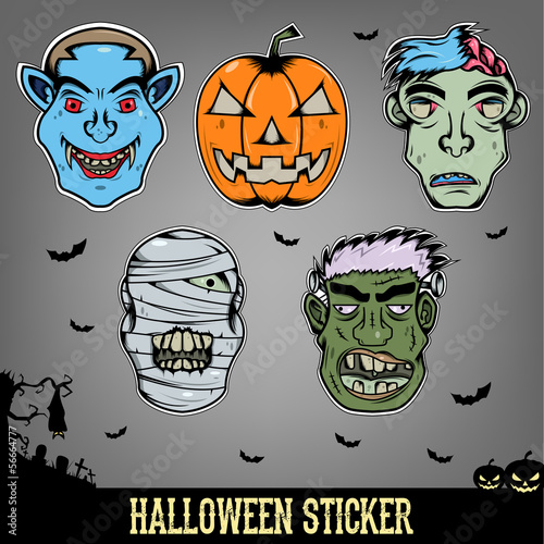 Halloween Sticker Monster