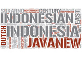 History of Indonesia Word Cloud Concept