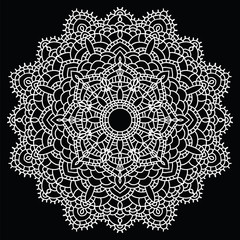 Crochet lace mandala.