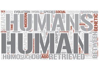 Human biology Word Cloud Concept