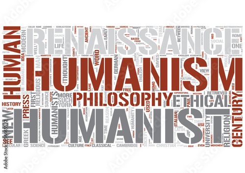 Humanism Word Cloud Concept