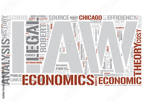 Law and economics Word Cloud Concept