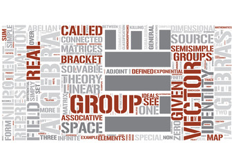 Lie algebra Word Cloud Concept