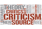 Literary criticism Word Cloud Concept poster