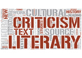 Literary theory Word Cloud Concept poster