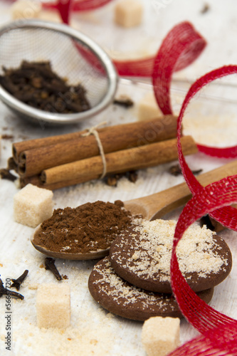 Spices with Sugar and Cookies