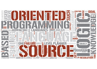 Logic programming Word Cloud Concept