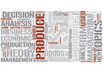 Managerial economics Word Cloud Concept