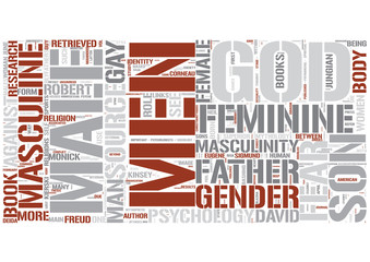 Masculine psychology Word Cloud Concept