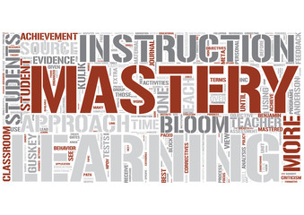 Mastery learning Word Cloud Concept