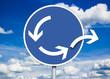 Straßenverkehrsschild mit Kreisverkehr - 56669163