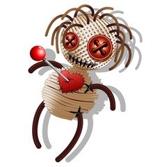 Voodoo Doll Death Cartoon-Bambola Pupazzo Rituale Voodoo