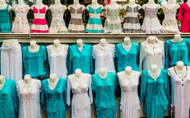 Turkish women's clothes at market