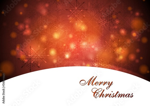 Elegant waves Christmas vector design