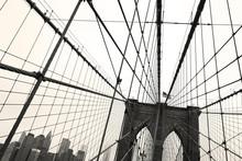 Brooklyn bridge sepia