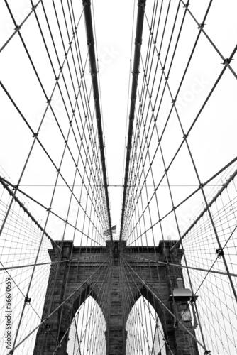 Zdjęcia na płótnie, fototapety, obrazy : Brooklyn Bridge, Black and White