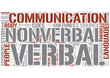 Nonverbal communication Word Cloud Concept