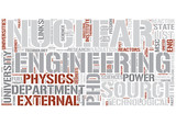 Nuclear engineering Word Cloud Concept