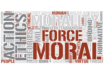Normative ethics Word Cloud Concept