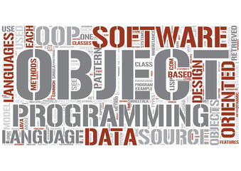 Object-oriented programming Word Cloud Concept