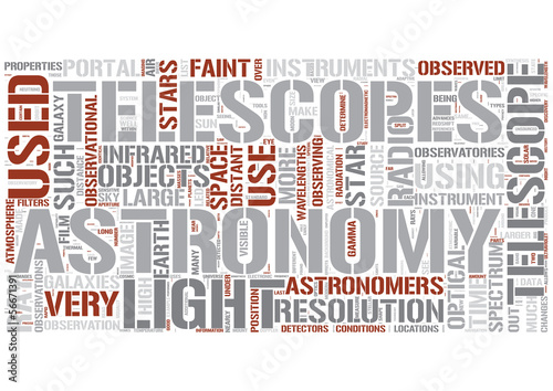 Observational astronomy Word Cloud Concept