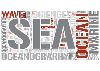 Oceanography Word Cloud Concept