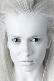 Portrait of mysterious albino woman poster