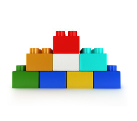 3d Toy construction brick