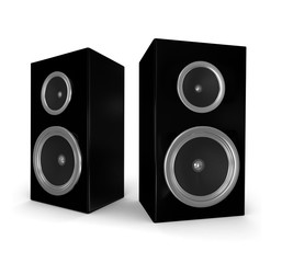 3d render of two speakers