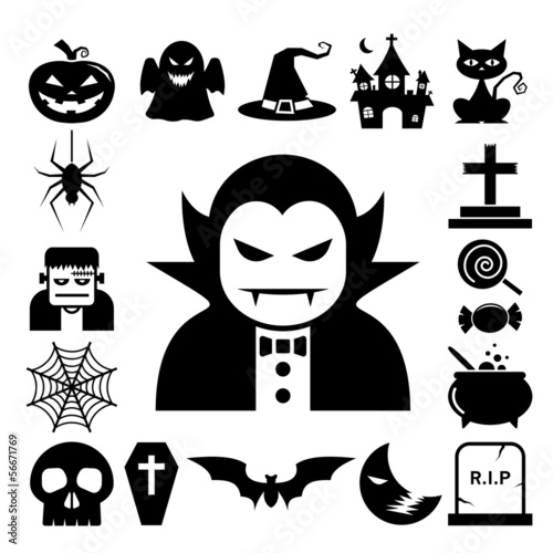 Halloween icon set.