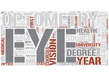 Optometry Word Cloud Concept