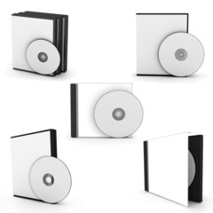 collection cd boxes