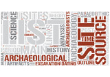 Outline of archaeology Word Cloud Concept