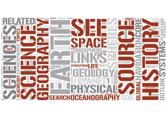 Outline of earth science Word Cloud Concept