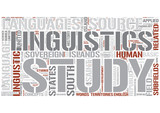Outline of linguistics Word Cloud Concept