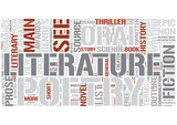 Outline of literature Word Cloud Concept