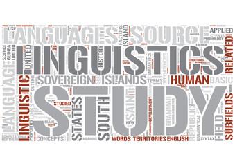 Outline of linguistics Word Cloud Concept