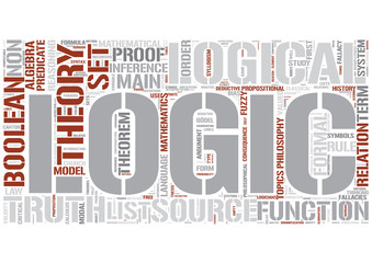 Outline of logic Word Cloud Concept