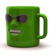 Fun green mug