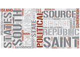 Outline of politics Word Cloud Concept