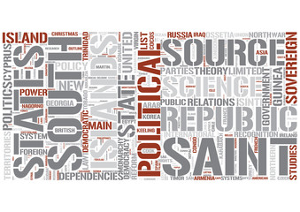 Outline of politics Word Cloud Concept