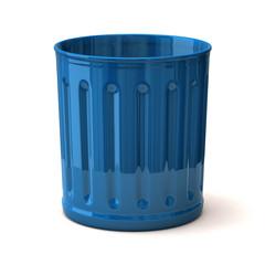 Illustration of blue trash can